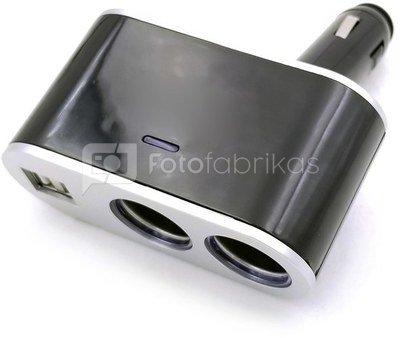 Omega cigar socket splitter 2xUSB 2.4A (44808)