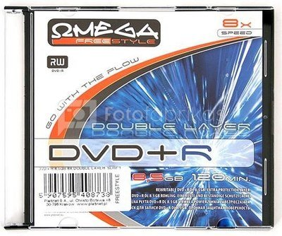 Omega Freestyle DVD+R DL Double Layer printable 8.5GB 8x slim