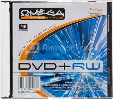 Omega Freestyle DVD+RW 4.7GB 4x slim