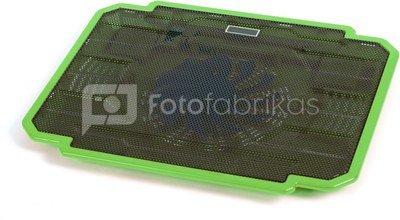 Omega laptop cooler pad Ice Box, green