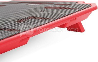 Omega laptop cooler pad Ice Box, red