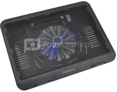 Omega laptop cooler pad Wind, black