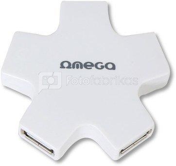 Omega USB 2.0 hub 4-port, white (OUH24SW)