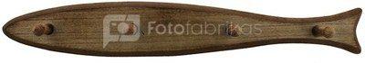 Pakaba medinė Žuvis 4 kablių 67027 H:9 W:60 D:8 cm psb
