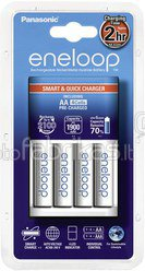 Panasonic Eneloop Smart & Quick Charger BQ-CC16 + 4x1900 AA