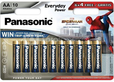 Panasonic Everyday Power battery LR6EPS/10BW (6+4) S-M