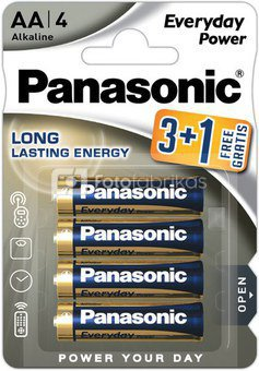 Panasonic Everyday Power батарейки LR6EPS/4B (3+1)