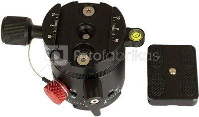 Caruba Panoramakop Kliksysteem   roterende topring & quick release (DH 55)