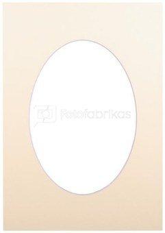 Passepartout 15x21, bisquit oval