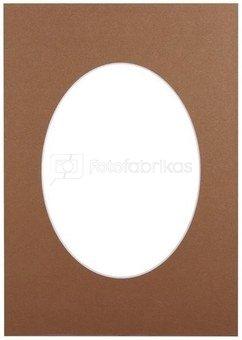 Passepartout 15x21, bronze oval
