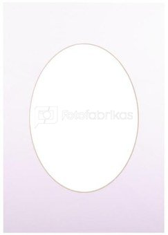 Passepartout 15x21, ultra white oval