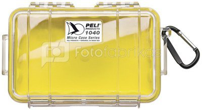 Peli Micro Case 1040 yellow/transparent