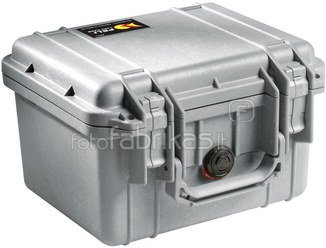 Peli Protector 1300 silver with pre-cut foam