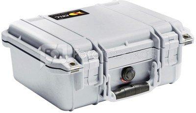 Peli Protector 1400 silver with pre-cut foam