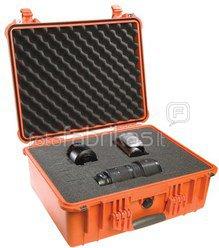 Peli Protector 1500 orange with foam-pad