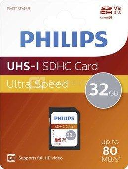 Philips SDHC Card 32GB Class 10 UHS-I U1