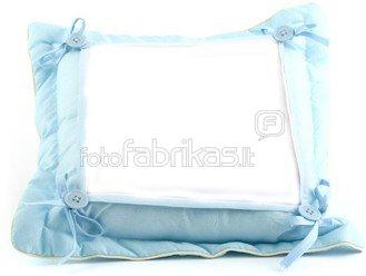 Pagalvėlė su nuotrauka (35 x 35cm., melsva)