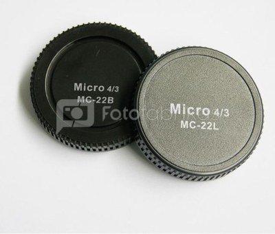 Pixel Lens Rear Cap MC-22B + Body Cap MC-22L for Micro Four Thirds