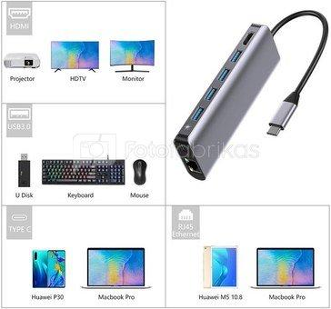 Platinet adapter USB-C 7in1 (45018)