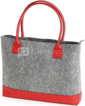 "Platinet notebook bag 15.6"" Felt Collection, red"