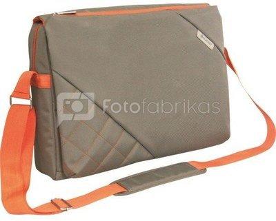 """Platinet notebook bag 15.6"""" Messenger Collection, beige/orange (41730)"""