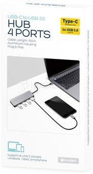 Platinet USB hub USB-C - 4xUSB 3.0 (44708)
