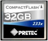 Pretec 32GB 233X Cheetah II CompactFlash atminties kortelė