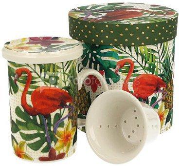 Puodelis arbatai su tropikų piešiniu dėžutėje 320 ml 5902693915188