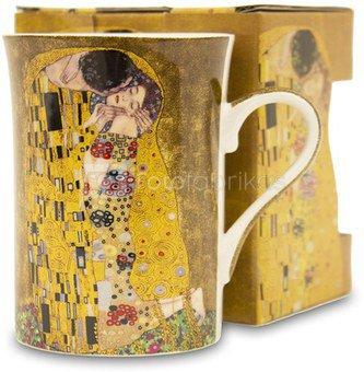 Puodelis Klimt paveikslo Bučinys motyvais 12x12,5x8,5 cm 114155