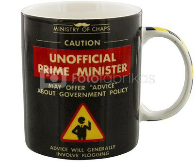 """Puodelis """"Unoffical Prime Minister"""" H:9 W:12 D:8 cm HM1028"""