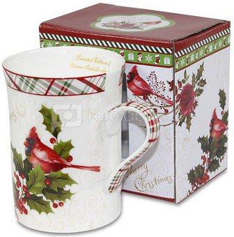 Puodelis su dėžute Kalėdinis 10x11x7,5 cm 106578 KLD