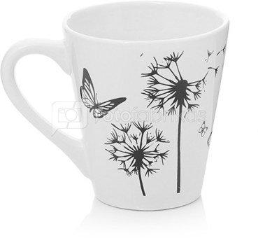 Puodukas arbatai pienės pūkas ir drugelis 9x10 cm AM1765 (4 rūšių)