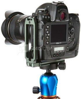 QR11 L Bracket Grijs voor cameras met full body of battery grips. Dual strap connectors and Arca Swiss Compatible