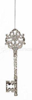 Raktelis dekoratyvinis pakabinamas H 15 cm sidabro sp. plastik. 11878 kld noakc