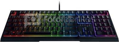 Razer Ornata V2, Gaming keyboard, RGB LED light, US, Black, Wired