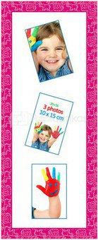 Rėmas 1200532 GALLERY KIDS 20x56 (3foto 10*15) rožinis