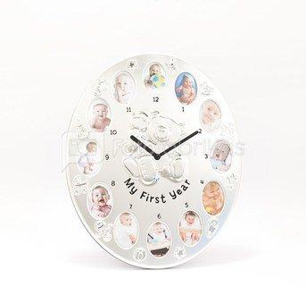 Rėmelis - laikrodis metalinis vaikiškas Mano pirmieji metai 12 nuotr. 3x5 cm