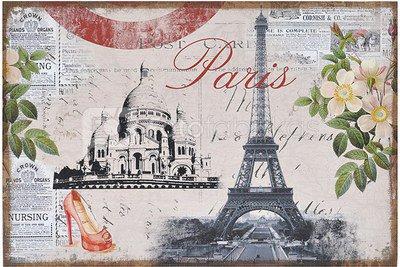 Reprodukcija ant drobės Paryžius 60x90 YM1538