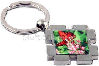 Rombo formos raktų pakabukas su dėžute
