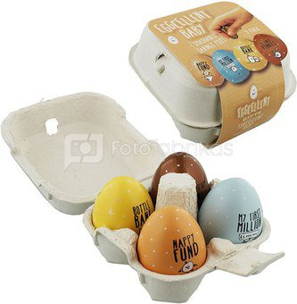 """Rinkinys 4 taupyklės kiaušiniai """"Baby"""" H:9 W:13 EG131"""
