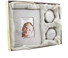 Rinkinys kūdikiui rėmelis+dėžutės pirmai sruogai/dantukui H:16 W:20 cm CG1156