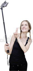 Rollei Selfie Stick Extension + Bluetooth Remote Control black