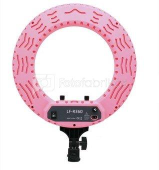 Caruba Round Vlogger 12 inch LED set met tas   Pink  (MENZ)