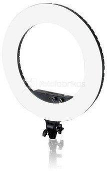 Caruba Round Vlogger 18 inch LED set Economy met tas   Black