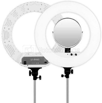 Caruba Round Vlogger 18 inch LED set PRO met tas   White
