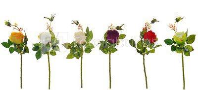 Rožė K03190 (6 spalvų), H:44 cm.