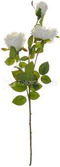 Rožės šakelė balta K03203, H:78 cm.