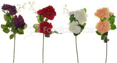 Rožės šakelė ( 4 spalvų ) K02933, H:70 cm.