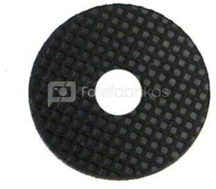 """rubber dekplaat (25 mm) met 3/8"""" uitsparing"""