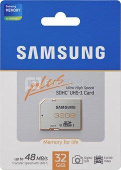 Samsung SDHC Card Plus 32GB Class 10 / MB-SPBGC/EU